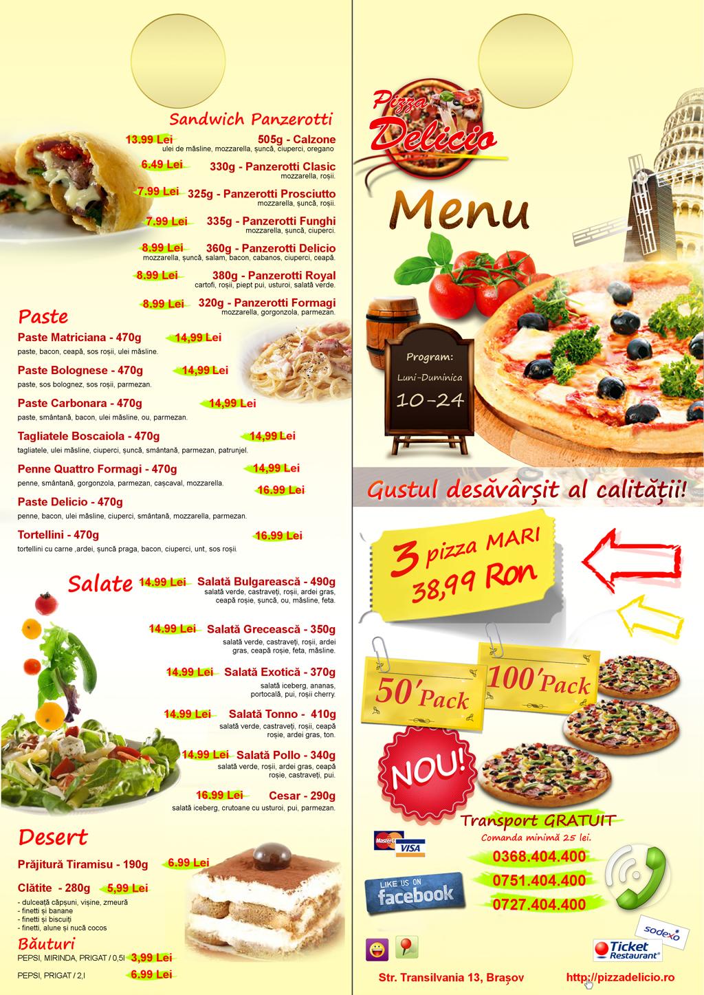 Pizza Delicio brasov Livrari