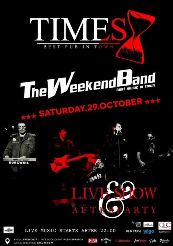 The weekend band live show amp after party 29 11 2014