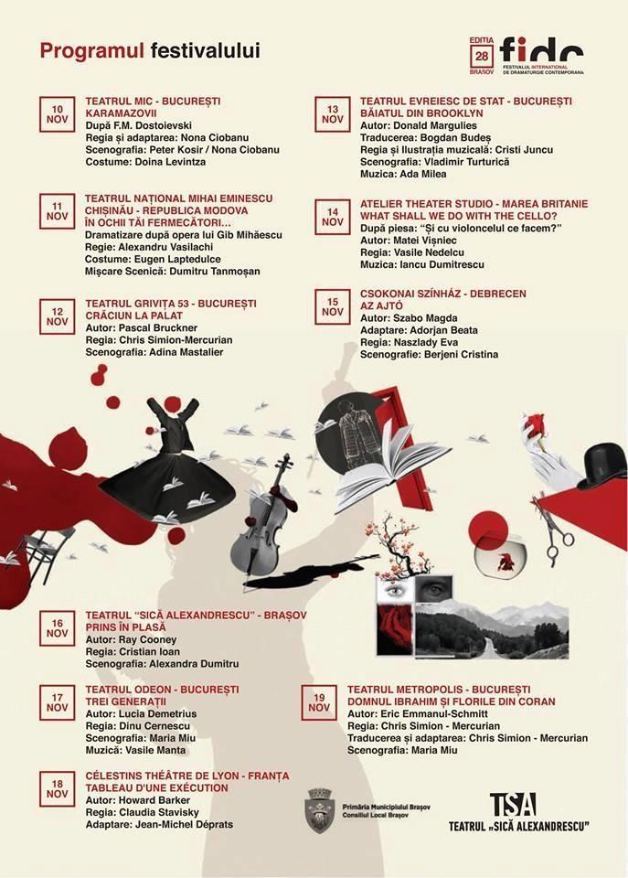Festivalul Internaţional de Dramaturgie Comtemporană, ediţia a XXVIII-a