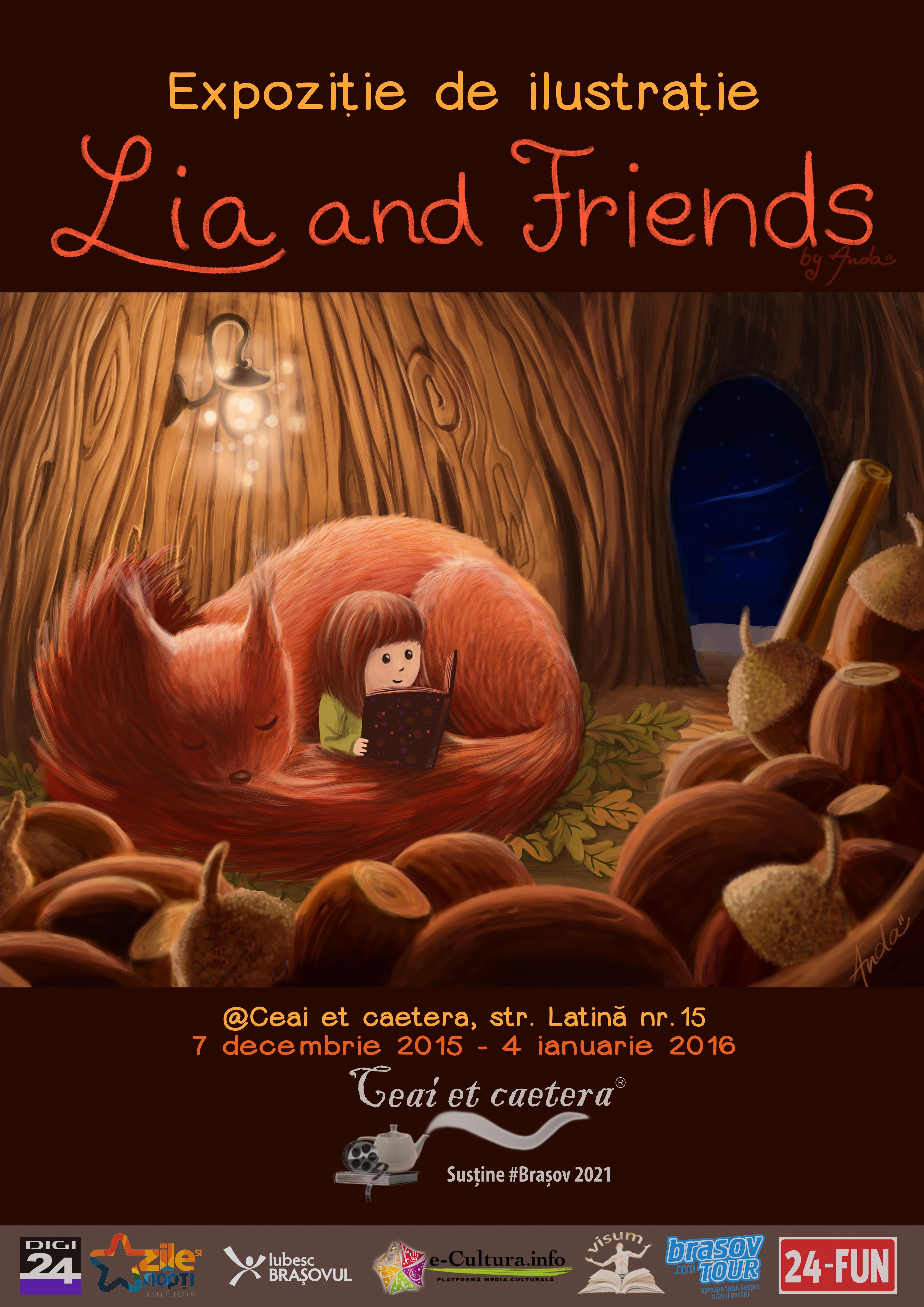 Lia and friends – expoziție de ilustrație, lucrări semnate Anda Ansheen