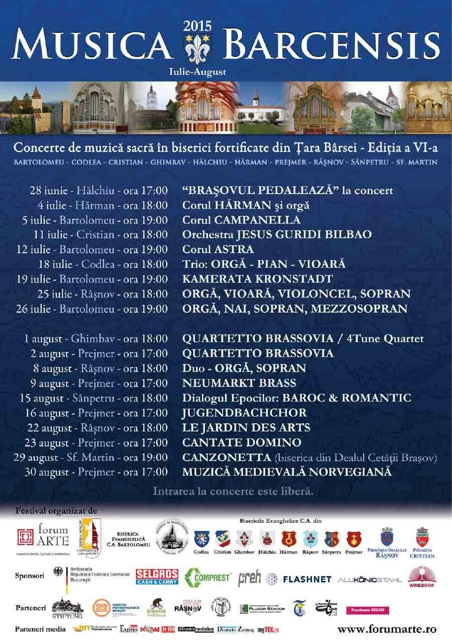 Festivalul Musica Barcensis 2015, Ediția a VI-a