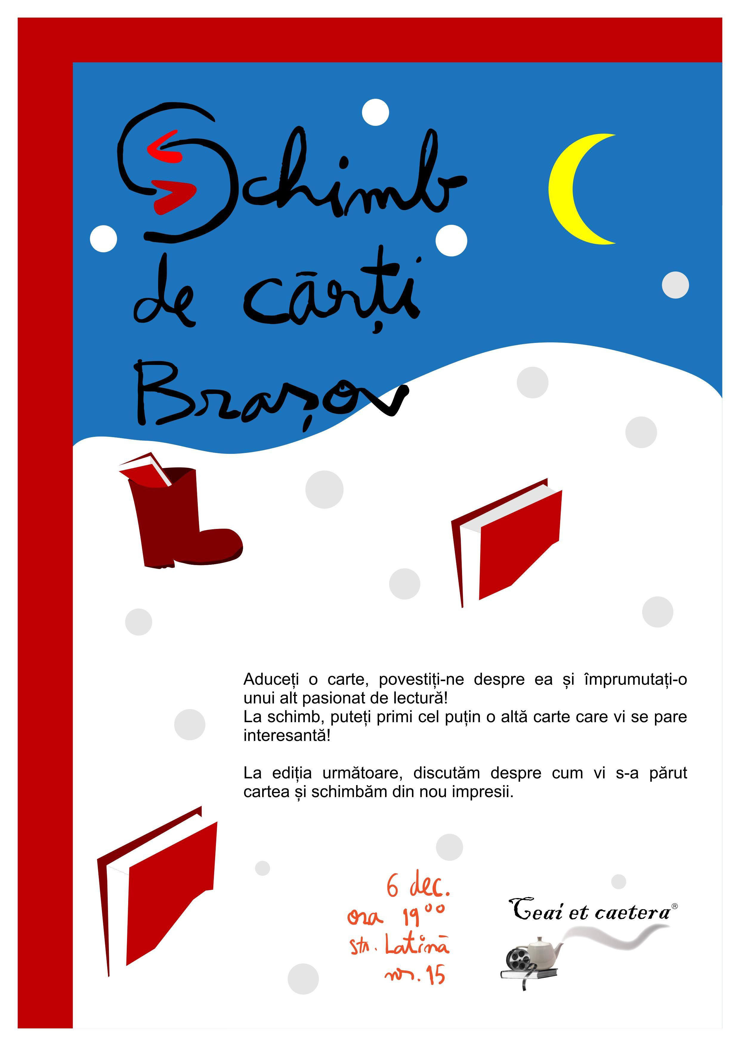 Schimb de cărți de Moș Nicolae – întâlnirea pasionaților de lectură din Brașov