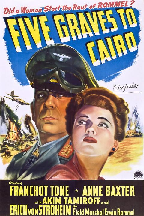 Golden Classics - Spionaj în deşert/  Five Graves To Cairo (SUA, 1943)